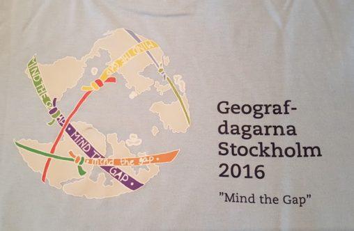 Foto av logotypen för Geografdagarna 2016, Mind the Gap